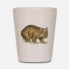 Wombat drawing Shot Glass