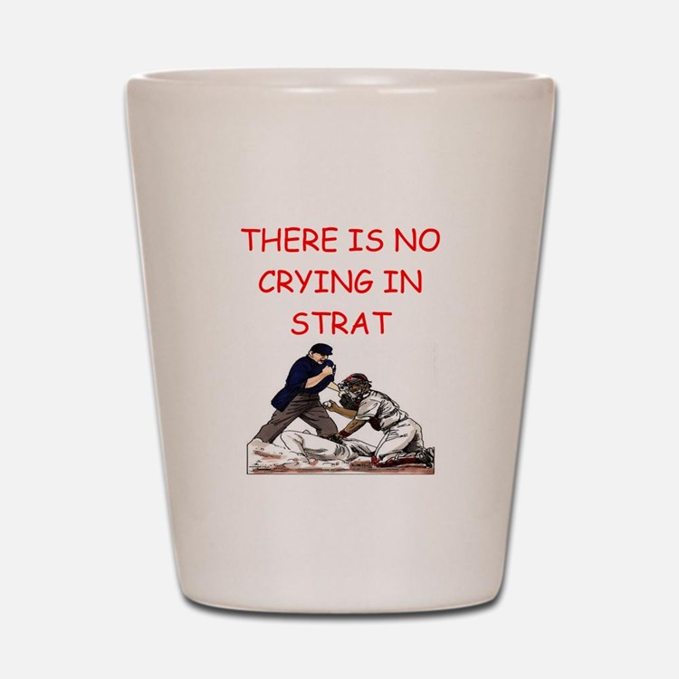 strat-o-matic baseball joke Shot Glass