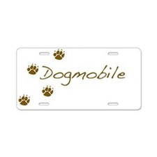 Cute Dog car Aluminum License Plate