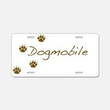 Cute Dog pawprints Aluminum License Plate