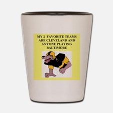 browns t-shirts and gifts Shot Glass