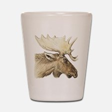 moose drawing Shot Glass