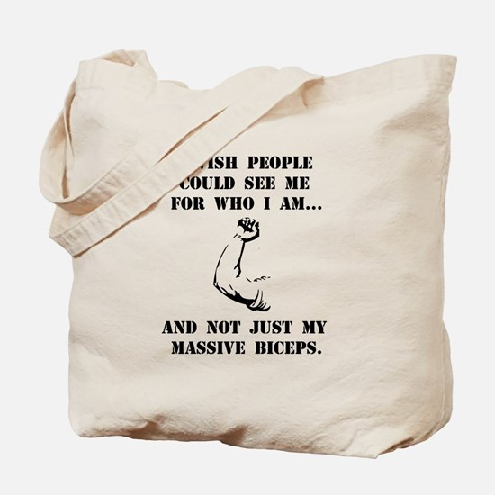 Massive Biceps Tote Bag