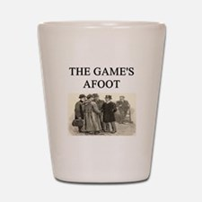 sherlok holmes gifts t-shirts Shot Glass