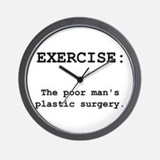 Exercise Plastic Surgery Wall Clock