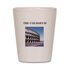 the colisseum rome italy gift Shot Glass
