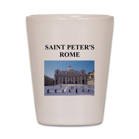 saint peter's rome gifts and Shot Glass