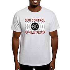 Gun Control Ash Grey T-Shirt