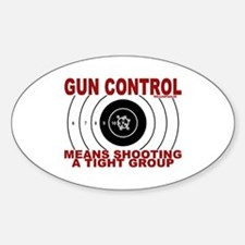 Gun Control Oval Stickers