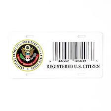 AMERICAN CITIZEN Aluminum License Plate