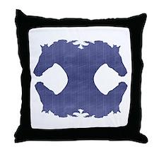 The Four Winds (denim) - Throw Pillow