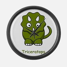 Cartoon Triceratops Large Wall Clock
