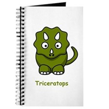 Cartoon Triceratops Journal