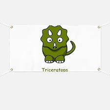 Cartoon Triceratops Banner
