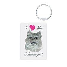 I Love My Schnauzer! Keychains