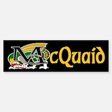 McQuaid Celtic Dragon Gold Bumper Bumper Bumper Sticker