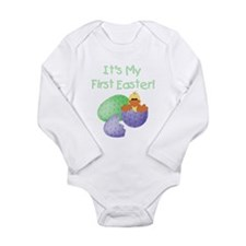 Duckie First Easter Long Sleeve Infant Bodysuit