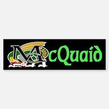 McQuaid Celtic Dragon Green Bumper Bumper Bumper Sticker