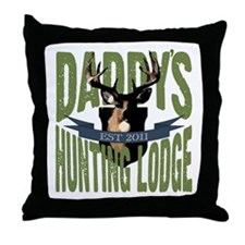 Daddy's Hunting Lodge Throw Pillow