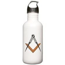 Cute Square and compass Water Bottle
