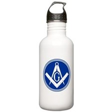 Masonic Square and Compass Water Bottle