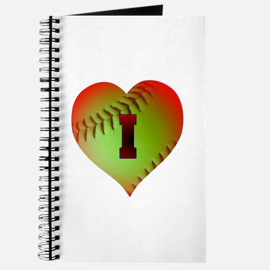 I Love Softball (Optic Yellow) Journal