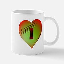 I Love Softball (Optic Yellow) Mug
