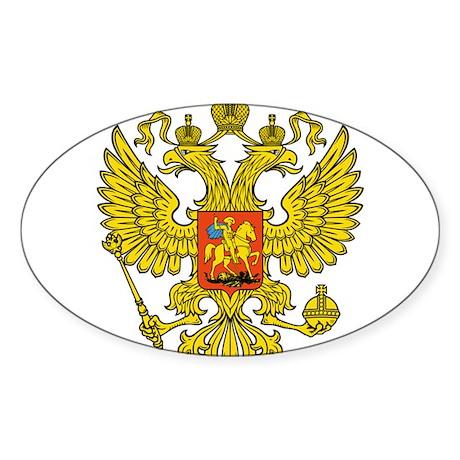 Russia Russland Logo Wappen Sticker (Oval 10 pk)