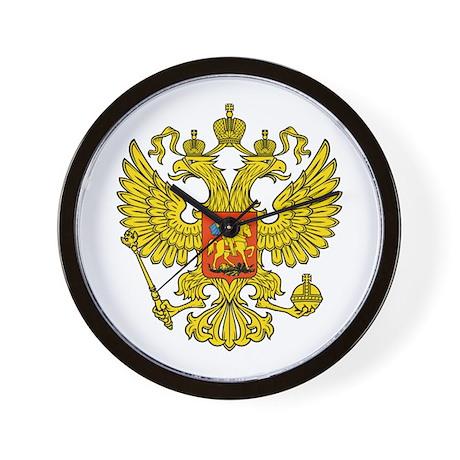 Russia Russland Logo Wappen Wall Clock