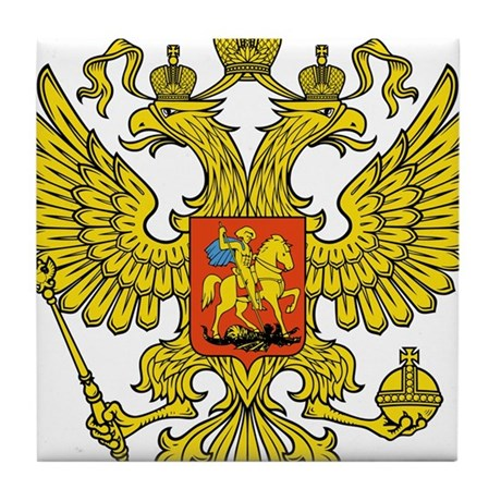 Russia Russland Logo Wappen Tile Coaster