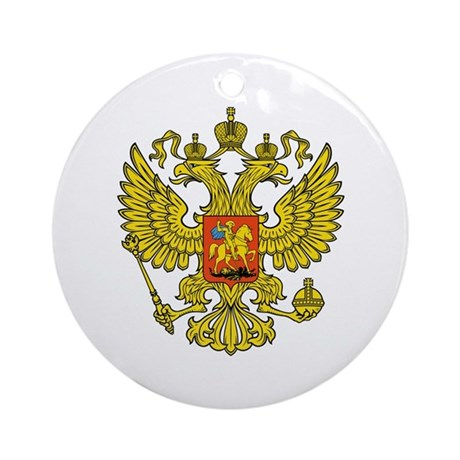 Russia Russland Logo Wappen Ornament (Round)