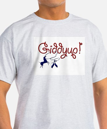 Giddyup! Ash Grey T-Shirt