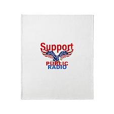 Public Radio Throw Blanket