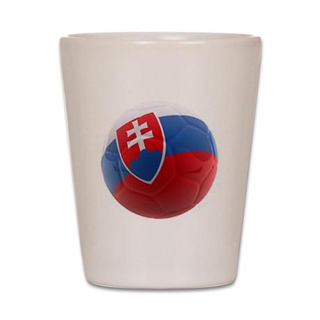 Slovakia World Cup Ball Shot Glass