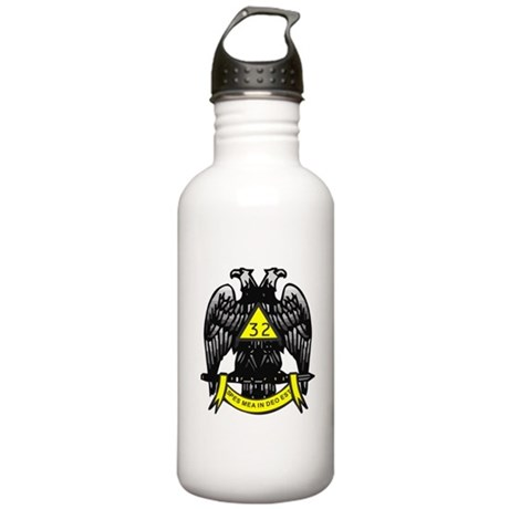 Scottish Rite 32nd Degree Stainless Water Bottle 1