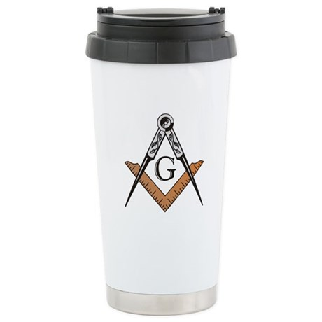 Masonic Square and Compass Stainless Steel Travel