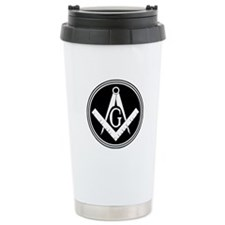 Masonic Square and Compass Travel Mug
