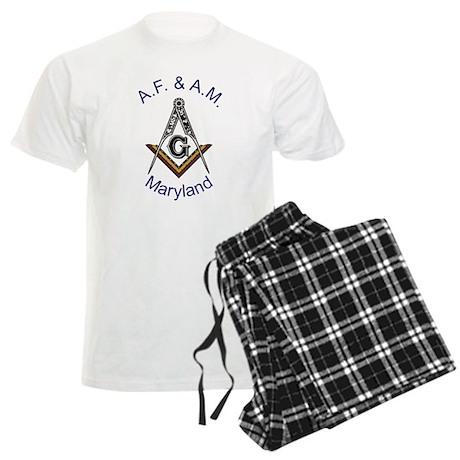 Maryland Square and Compass Men's Light Pajamas