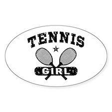 Tennis Girl Decal