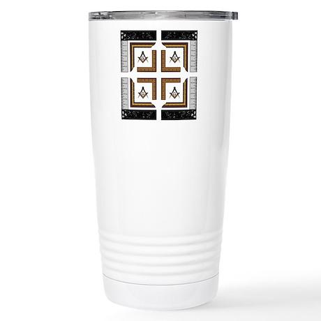 Square Design No. 3 Stainless Steel Travel Mug