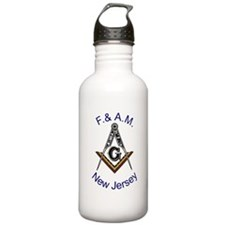 New Jersey Square and Compass Water Bottle