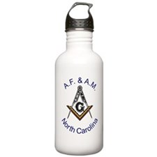 North Carolina Square and Com Water Bottle