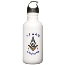 Oklahoma Square and Compass Water Bottle