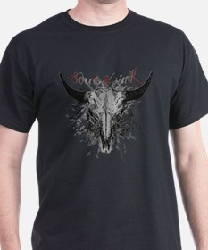 Tattoo Bull Skull T-Shirt