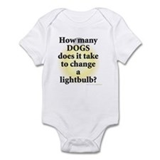 Dogs Change Lightbulb Infant Bodysuit