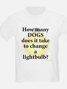 Dogs Change Lightbulb T-Shirt