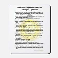 Dogs Change Lightbulb Mousepad