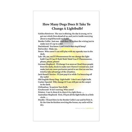 Dogs Change Lightbulb Rectangle Sticker
