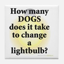 Dogs Change Lightbulb Tile Coaster