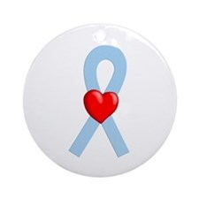 Lt Blue Ribbon Ornament (Round)